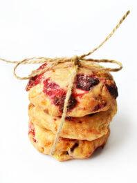 Печенье с ягодами и белым шоколадом