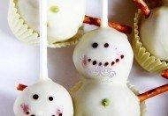 """Новогодний набор кейк попсов """"Снеговик"""""""