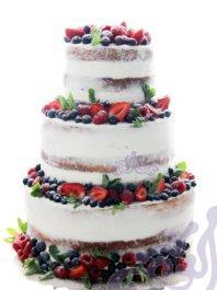 Свадебный Naked cake ( с клубникой)