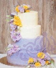 """Свадебный торт """"Лиловый"""""""