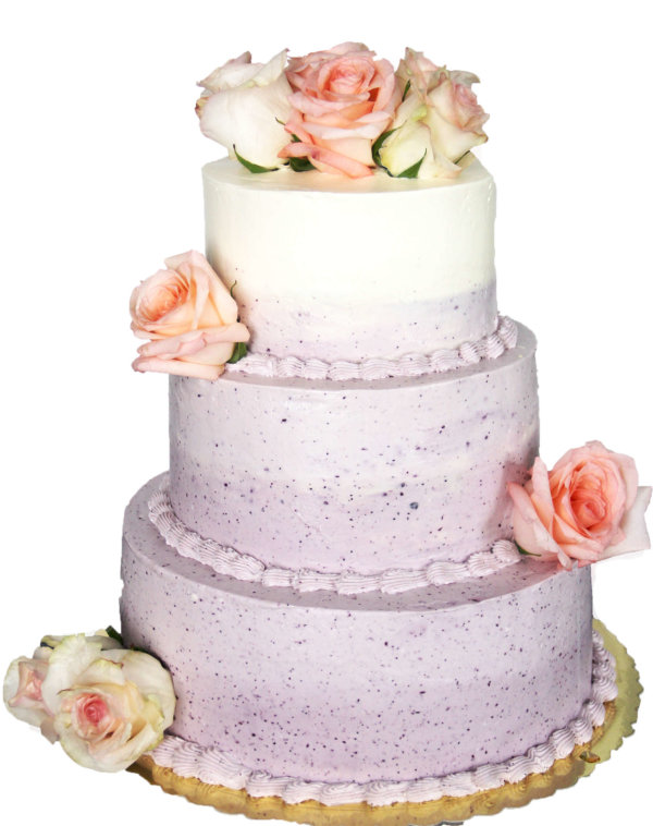 """Свадебный торт """"Черничный рай"""""""