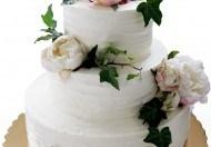 """Свадебный торт """"Цветочный сад"""""""