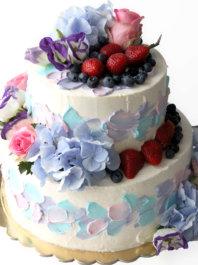 """Свадебный торт """"Гортензия"""""""