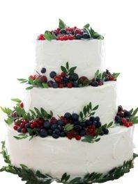 """Свадебный торт """"Зеленая лужайка"""""""