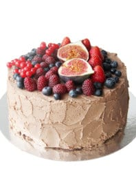 Постный торт Шоколадно-ягодный