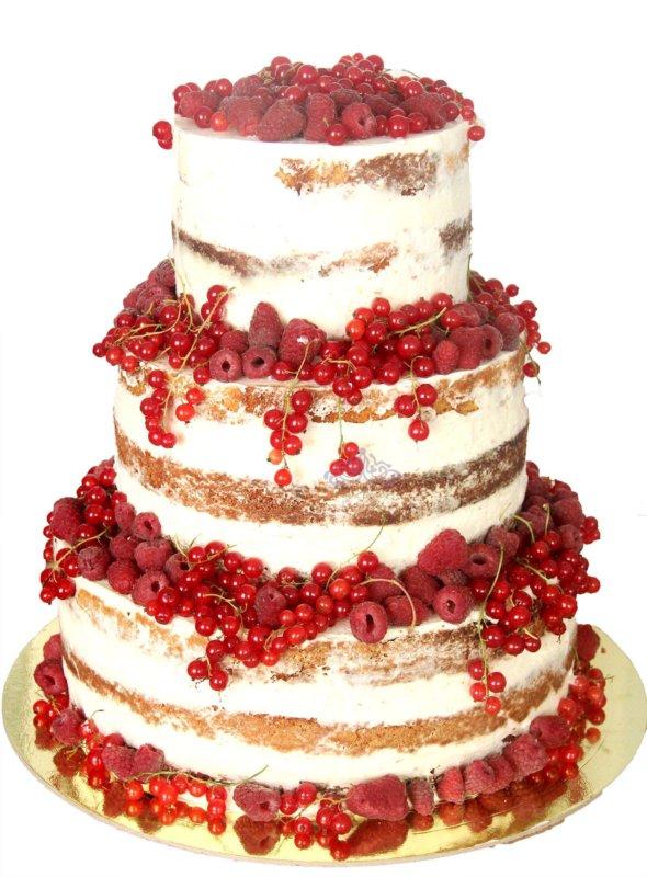 """Naked cake """"Красная смородина"""""""