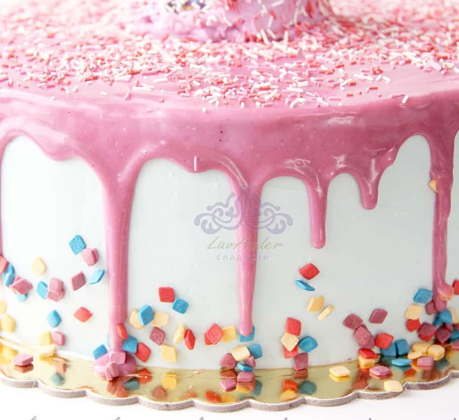 Торт с рожком мороженого