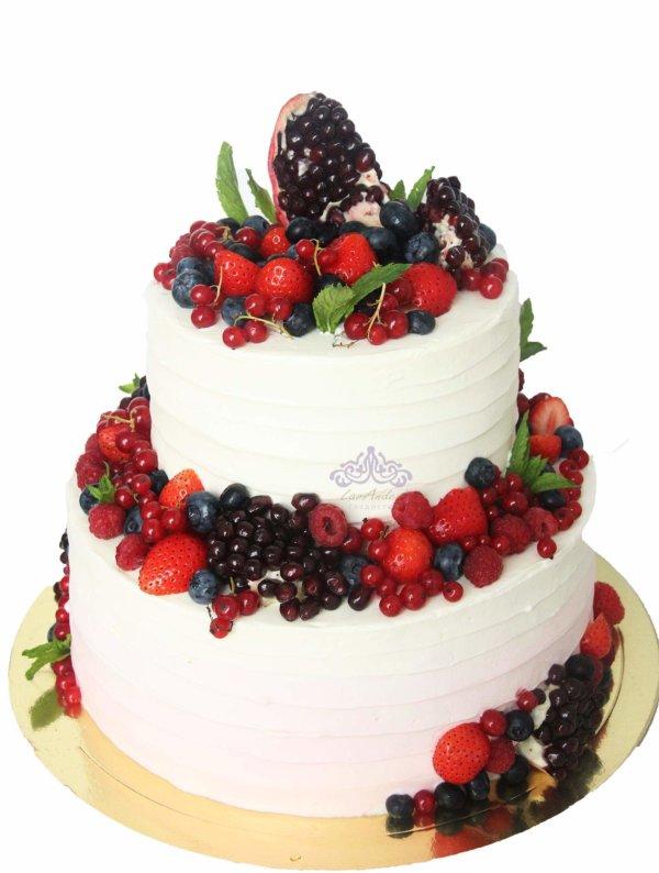 """Свадебный торт """"Гранат"""""""