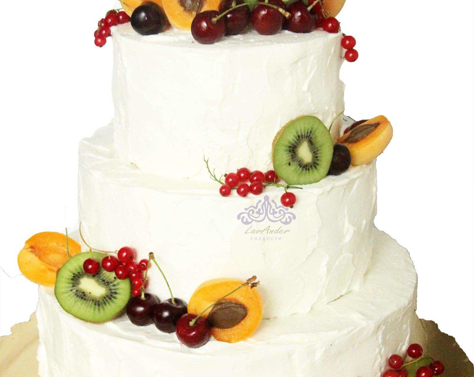 """Свадебный торт """"Фруктовый"""""""