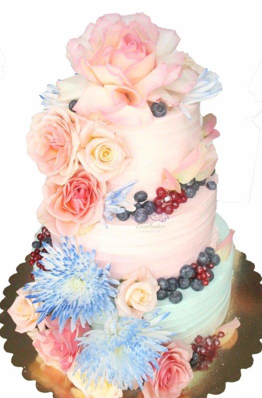 """Свадебный торт """"Акварельный"""" 2"""
