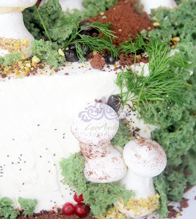 Торт грибная поляна