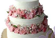 """Свадебный торт """"Венок из роз"""""""