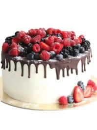 Торт с шоколадными подтеками