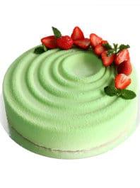 """Муссовый торт """"Клубничка"""" на день рождения девушке"""