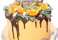 Новогодний торт Мандаринка
