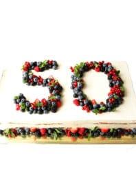 Прямоугольный торт на Юбилей