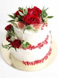 Свадебный торт Красный