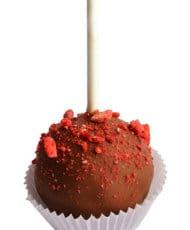 Шоколадный в клубничной крошке