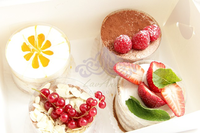 Фитнес мини торты