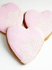 Печенье «Сердце с кружевом»