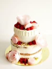Свадебный торт с цветами (вафельные)