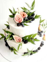 Свадебный торт Инжир/зелень