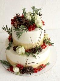 Свадебный зимний торт