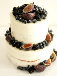 Naked cake с инжиром