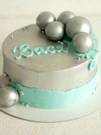 Торт для мальчика «Серебро»