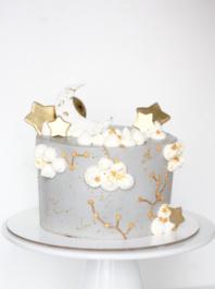 Детский торт Месяц и звезды