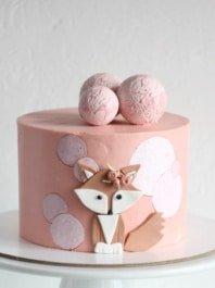Торт Лиса для девочки